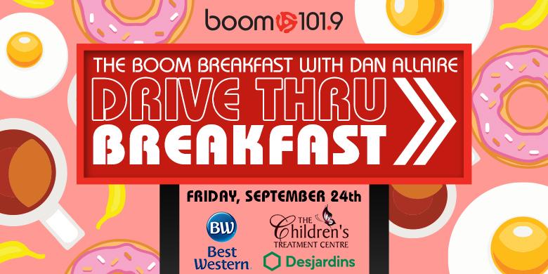Drive-Thru Breakfast with the boom breakfast